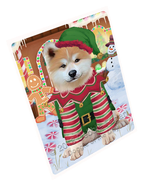 "Christmas Gingerbread House Candyfest Akita Dog Magnet MAG73522 (Mini 3.5"" x 2"")"