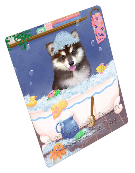 Rub A Dub Dog In A Tub Alaskan Malamute Dog Refrigerator / Dishwasher Magnet RMAG108678