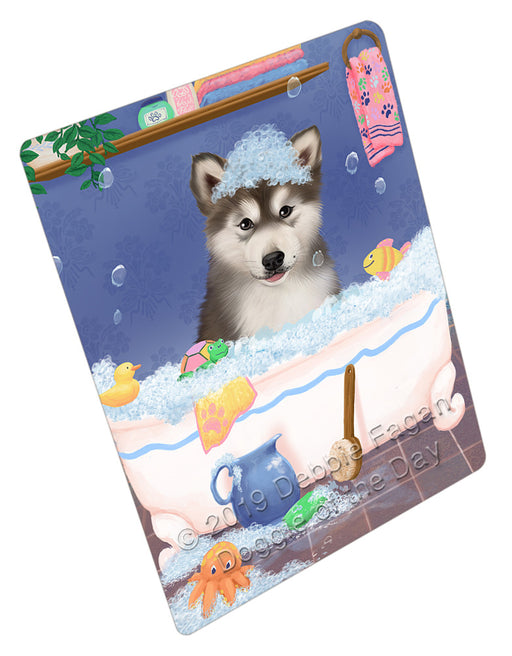 Rub A Dub Dog In A Tub Alaskan Malamute Dog Refrigerator / Dishwasher Magnet RMAG108684
