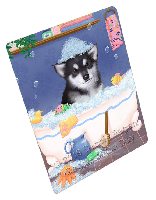 Rub A Dub Dog In A Tub Alaskan Malamute Dog Refrigerator / Dishwasher Magnet RMAG108690