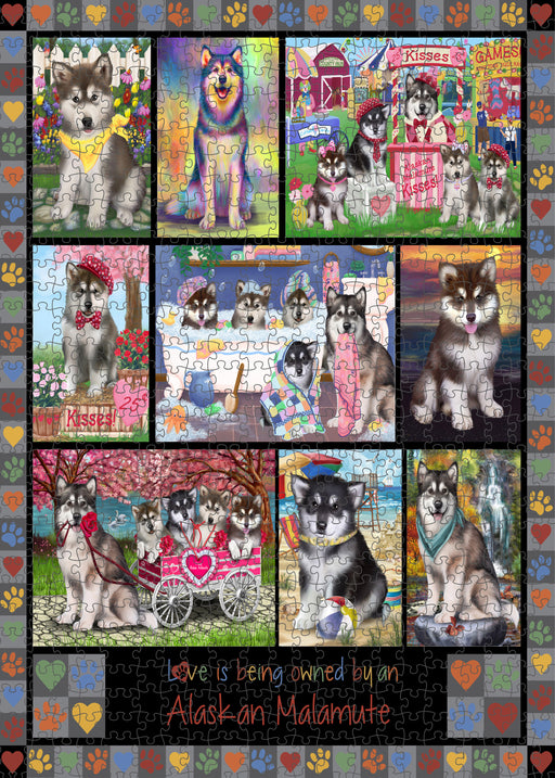 Love is Being Owned Alaskan Malamute Dog Grey Puzzle with Photo Tin PUZL98168