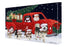 Christmas Express Delivery Red Truck Running Alaskan Malamute Dogs Canvas Print Wall Art Décor CVS145799