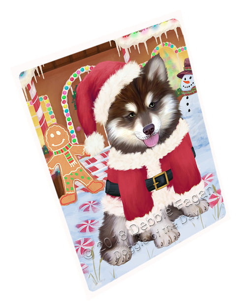 "Christmas Gingerbread House Candyfest Alaskan Malamute Dog Magnet MAG73525 (Mini 3.5"" x 2"")"