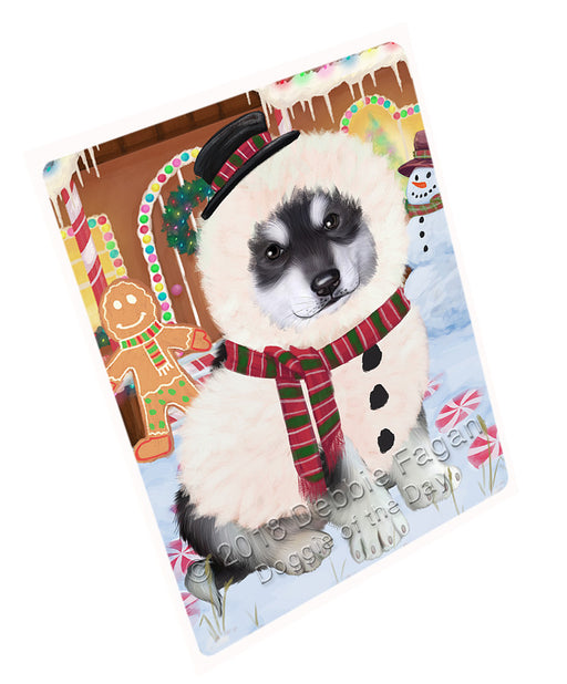 "Christmas Gingerbread House Candyfest Alaskan Malamute Dog Magnet MAG73528 (Mini 3.5"" x 2"")"