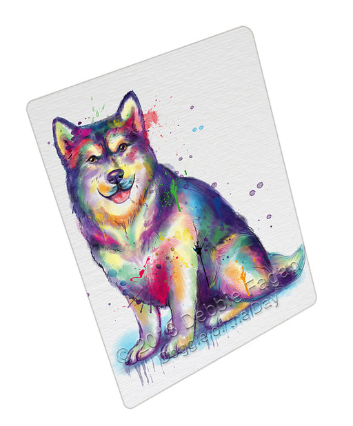 Watercolor Alaskan Malamute Dog Refrigerator / Dishwasher Magnet RMAG104814