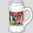 I Love American English Foxhound Dogs in a Cart Beer Stein BST57001