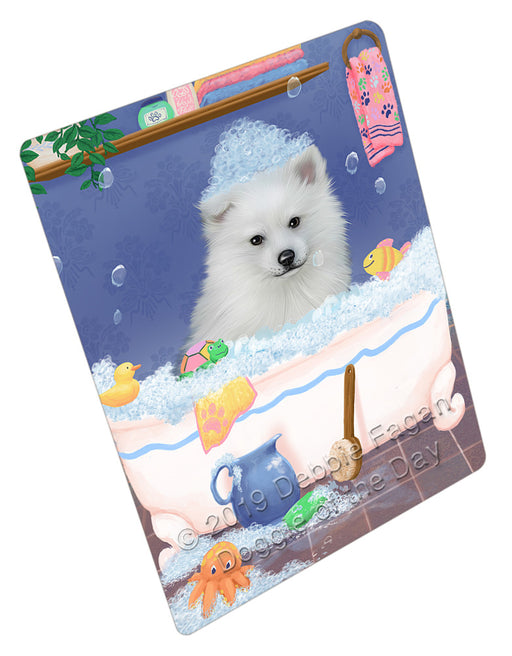 Rub A Dub Dog In A Tub American Eskimo Dog Refrigerator / Dishwasher Magnet RMAG108696