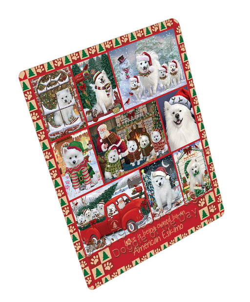 Love is Being Owned Christmas American Eskimo Dogs Refrigerator / Dishwasher Magnet RMAG107664