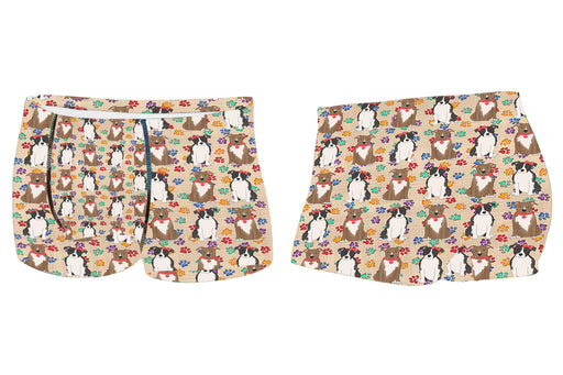 Rainbow Paw Print American Staffordshire Dogs RedMen's All Over Print Boxer Briefs