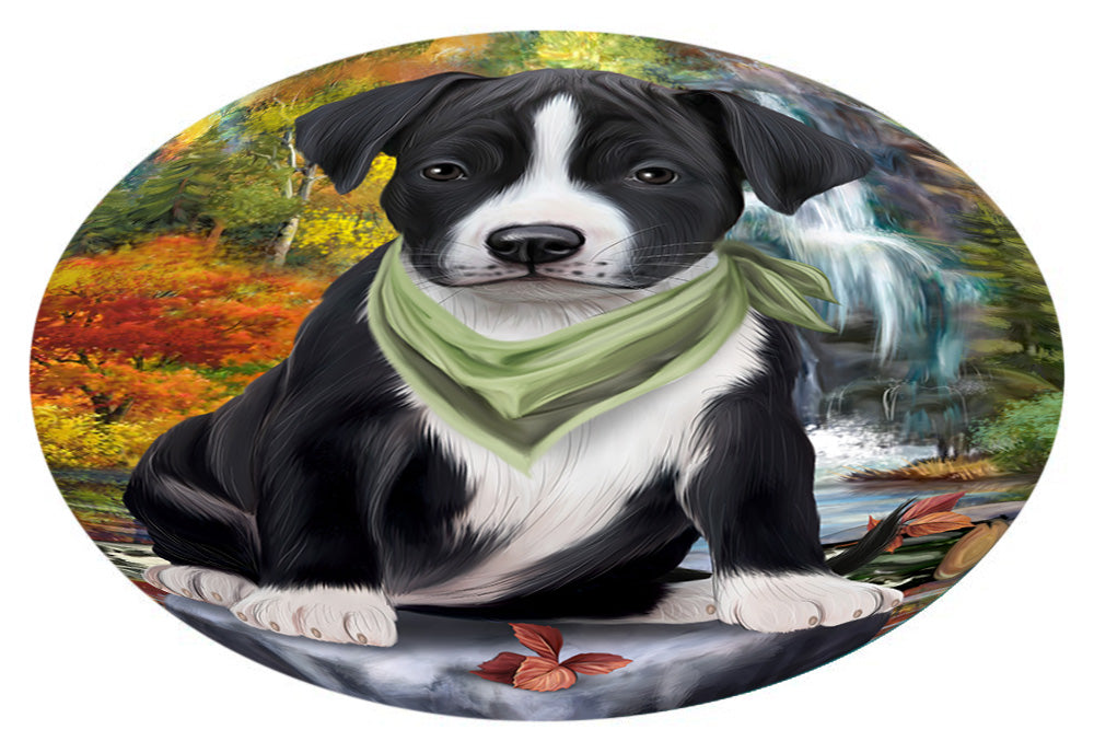 Scenic Waterfall American Staffordshire Terrier Dog Oval Envelope Seals OVE63200