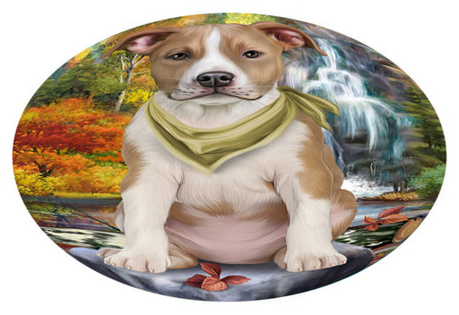 Scenic Waterfall American Staffordshire Terrier Dog Oval Envelope Seals OVE63204