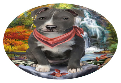 Scenic Waterfall American Staffordshire Terrier Dog Oval Envelope Seals OVE63208
