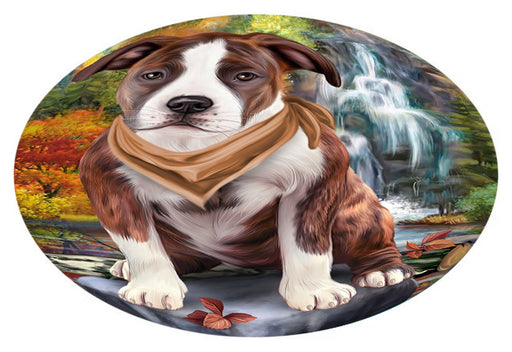 Scenic Waterfall American Staffordshire Terrier Dog Oval Envelope Seals OVE63212