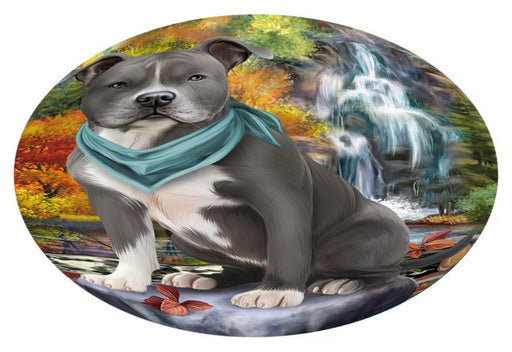 Scenic Waterfall American Staffordshire Terrier Dog Oval Envelope Seals OVE63216