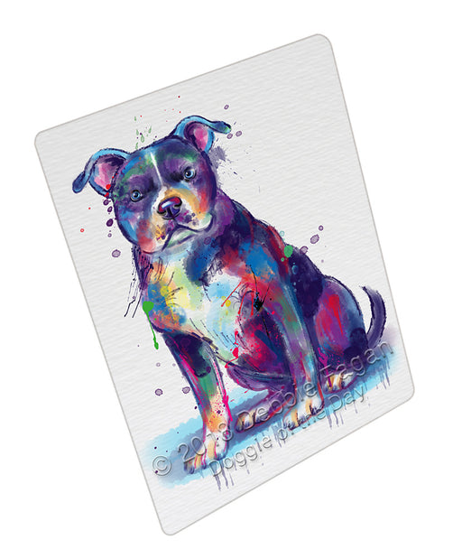 Watercolor American Staffordshire Terrier Dog Refrigerator / Dishwasher Magnet RMAG104820