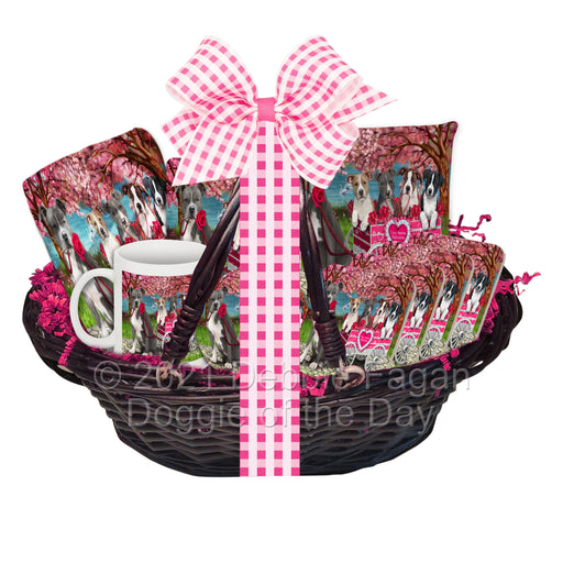 Mother's Day Gift Basket American Staffordshire Dogs Blanket, Pillow, Coasters, Magnet, Coffee Mug and Ornament