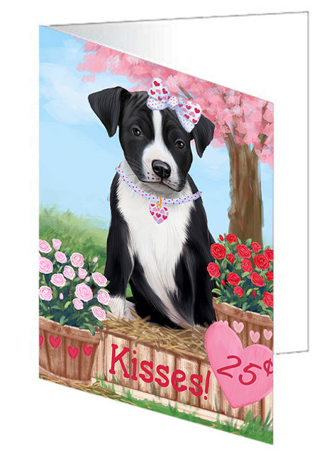 Rosie 25 Cent Kisses American Staffordshire Dog Note Card NCD71885