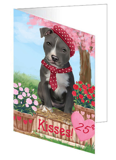 Rosie 25 Cent Kisses American Staffordshire Dog Note Card NCD71888