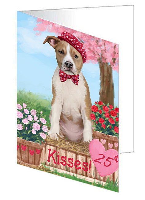 Rosie 25 Cent Kisses American Staffordshire Dog Note Card NCD71891