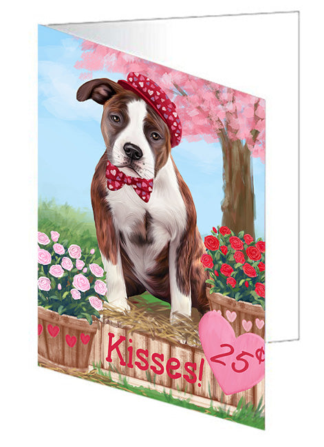 Rosie 25 Cent Kisses American Staffordshire Dog Note Card NCD71894