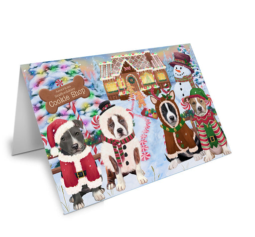 Holiday Gingerbread Cookie Shop American Staffordshires Dog Note Card NCD72800