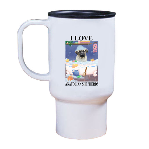 Rub A Dub Dog In A Tub Anatolian Shepherd Dog Travel Mug TRAV52528
