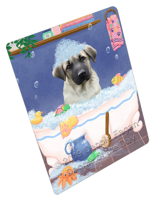 Rub A Dub Dog In A Tub Anatolian Shepherd Dog Refrigerator / Dishwasher Magnet RMAG108726