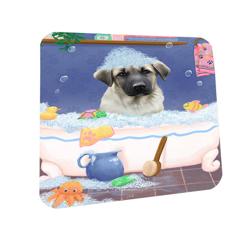Rub A Dub Dog In A Tub Anatolian Shepherd Dog Coasters Set of 4 CST57251