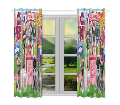 Carnival Kissing Booth Anatolian Shepherd Dogs Window Curtain