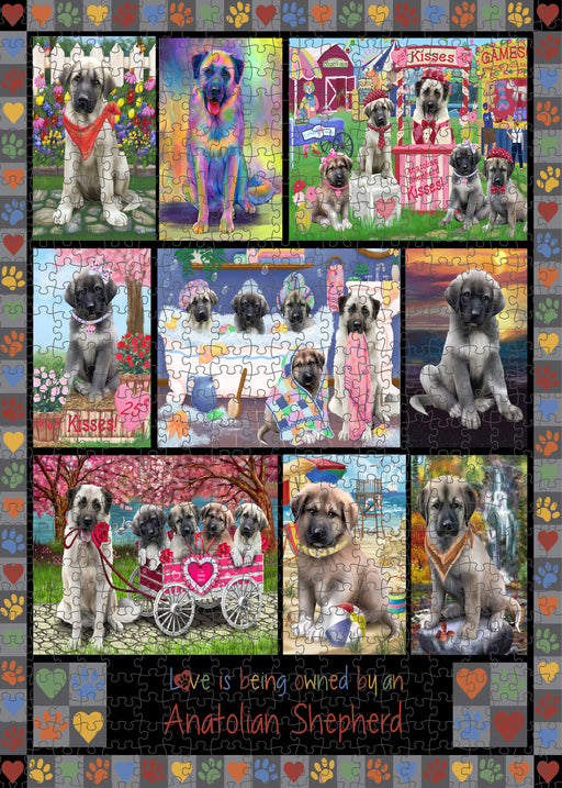 Love is Being Owned Anatolian Shepherd Dog Grey Puzzle with Photo Tin PUZL98192