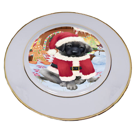 Christmas Gingerbread House Candyfest Anatolian Shepherd Dog Porcelain Plate PLT54490