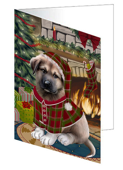 The Stocking was Hung Jack Russell Terrier Dog Greeting Card GCD70544