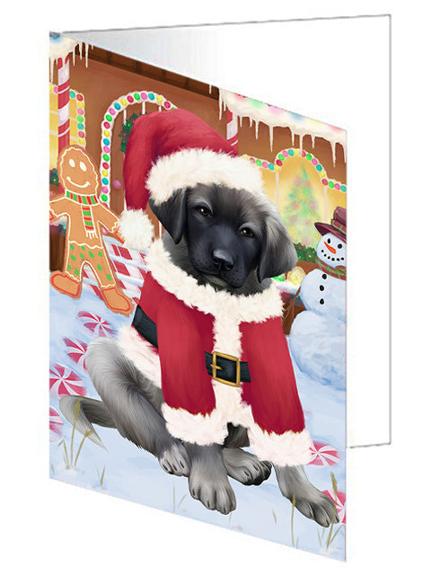 Christmas Gingerbread House Candyfest Anatolian Shepherd Dog Note Card NCD72938