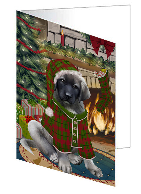 The Stocking was Hung Jack Russell Terrier Dog Note Card NCD70541