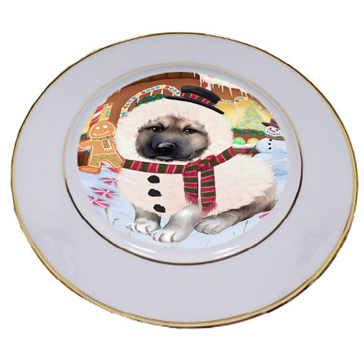 Christmas Gingerbread House Candyfest Anatolian Shepherd Dog Porcelain Plate PLT54491