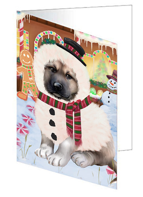 Christmas Gingerbread House Candyfest Anatolian Shepherd Dog Note Card NCD72941