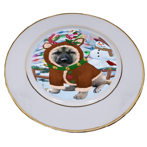 Christmas Gingerbread House Candyfest Anatolian Shepherd Dog Porcelain Plate PLT54492