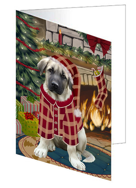 The Stocking was Hung Jack Russell Terrier Dog Note Card NCD70538