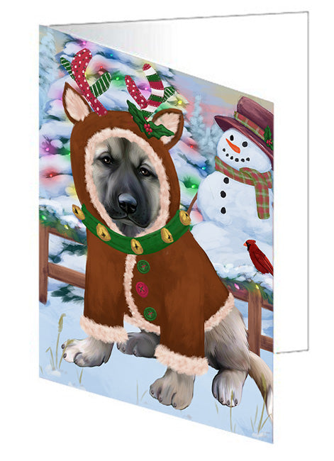 Christmas Gingerbread House Candyfest Anatolian Shepherd Dog Note Card NCD72944