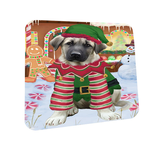 Christmas Gingerbread House Candyfest Anatolian Shepherd Dog Coasters Set of 4 CST56102