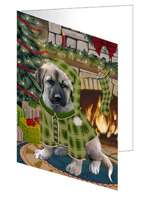 The Stocking was Hung Jack Russell Terrier Dog Note Card NCD70535