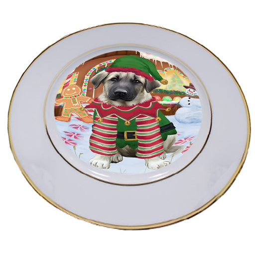 Christmas Gingerbread House Candyfest Anatolian Shepherd Dog Porcelain Plate PLT54493