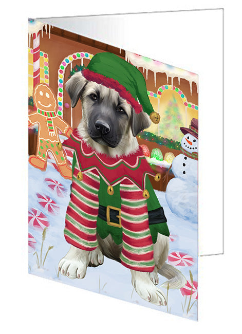 Christmas Gingerbread House Candyfest Anatolian Shepherd Dog Note Card NCD72947