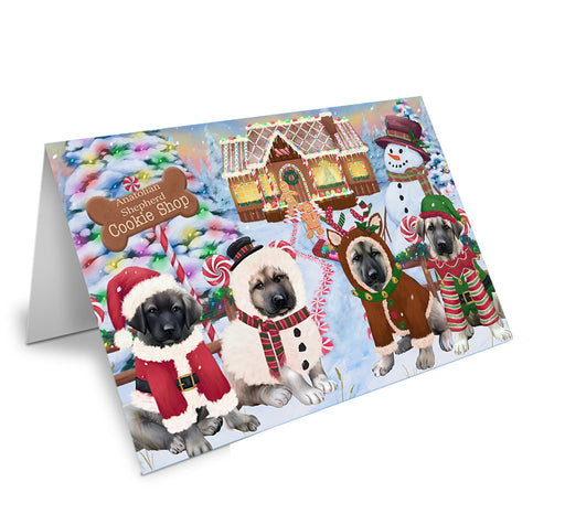 Holiday Gingerbread Cookie Shop Anatolian Shepherds Dog Note Card NCD72803