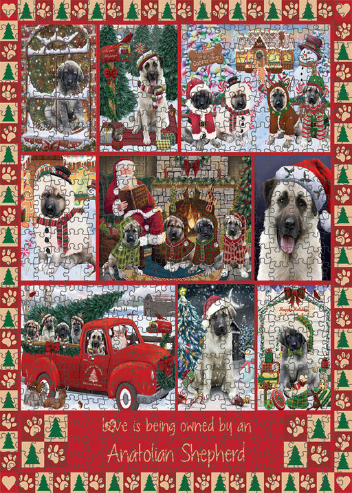 Love is Being Owned Christmas Anatolian Shepherd Dogs Puzzle with Photo Tin PUZL99240