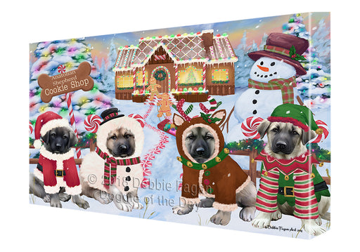Holiday Gingerbread Cookie Shop Anatolian Shepherds Dog Canvas Print Wall Art Décor CVS127088