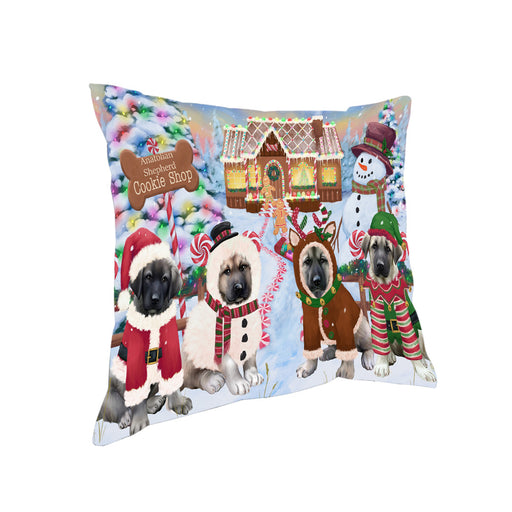 Holiday Gingerbread Cookie Shop Anatolian Shepherds Dog Pillow PIL78676