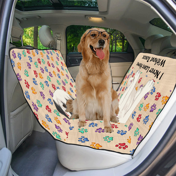 Personalized I Never Leave Home Paw Print Anatolian Shepherd Dogs Pet Back Car Seat Cover