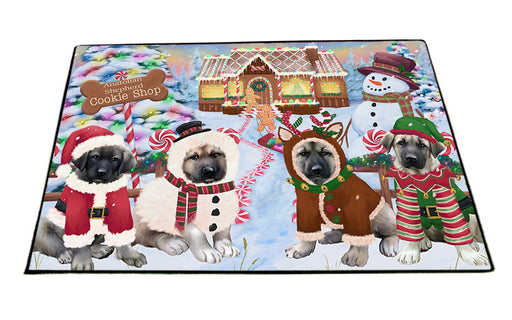 Holiday Gingerbread Cookie Shop Anatolian Shepherds Dog Floormat FLMS53112