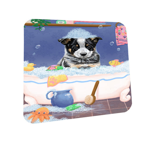 Rub A Dub Dog In A Tub Australian Cattle Dog Coasters Set of 4 CST57252